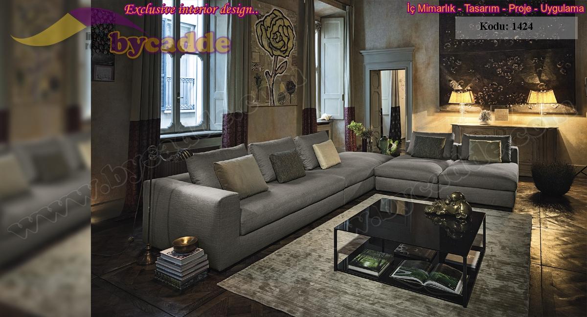 Yaşam Alanınızı Lüks Göstermek İçin Salon Oturma Odası Koltuk Tasarım Fikirleri