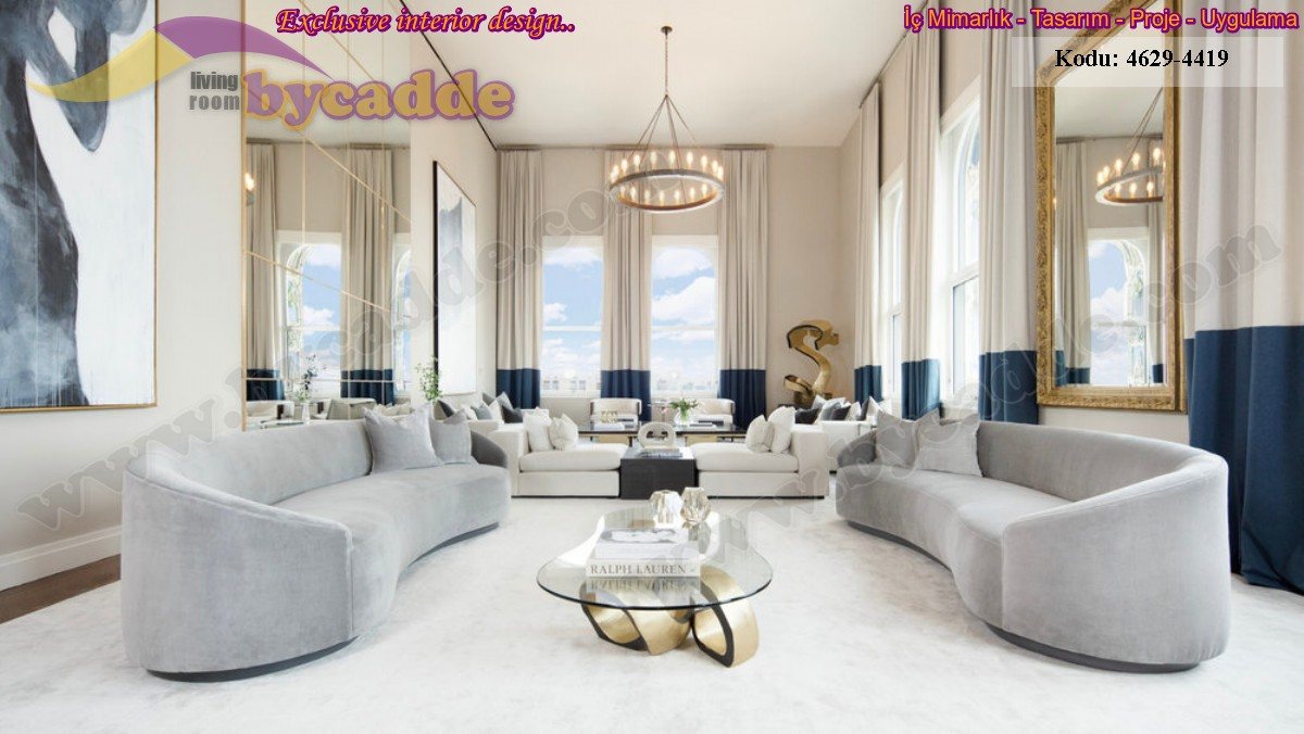 Lüks Ve Modern Oturma Odası Tasarımları Koltuk Oturma Gurubu Köşe Takımı