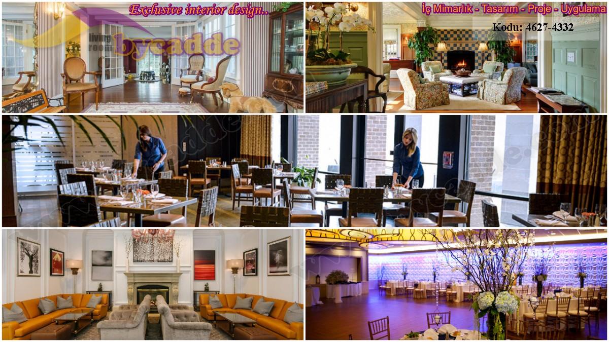 Lüks Restoran Lokanta Dekorasyonu Koltuk Mobilya Tasarımları