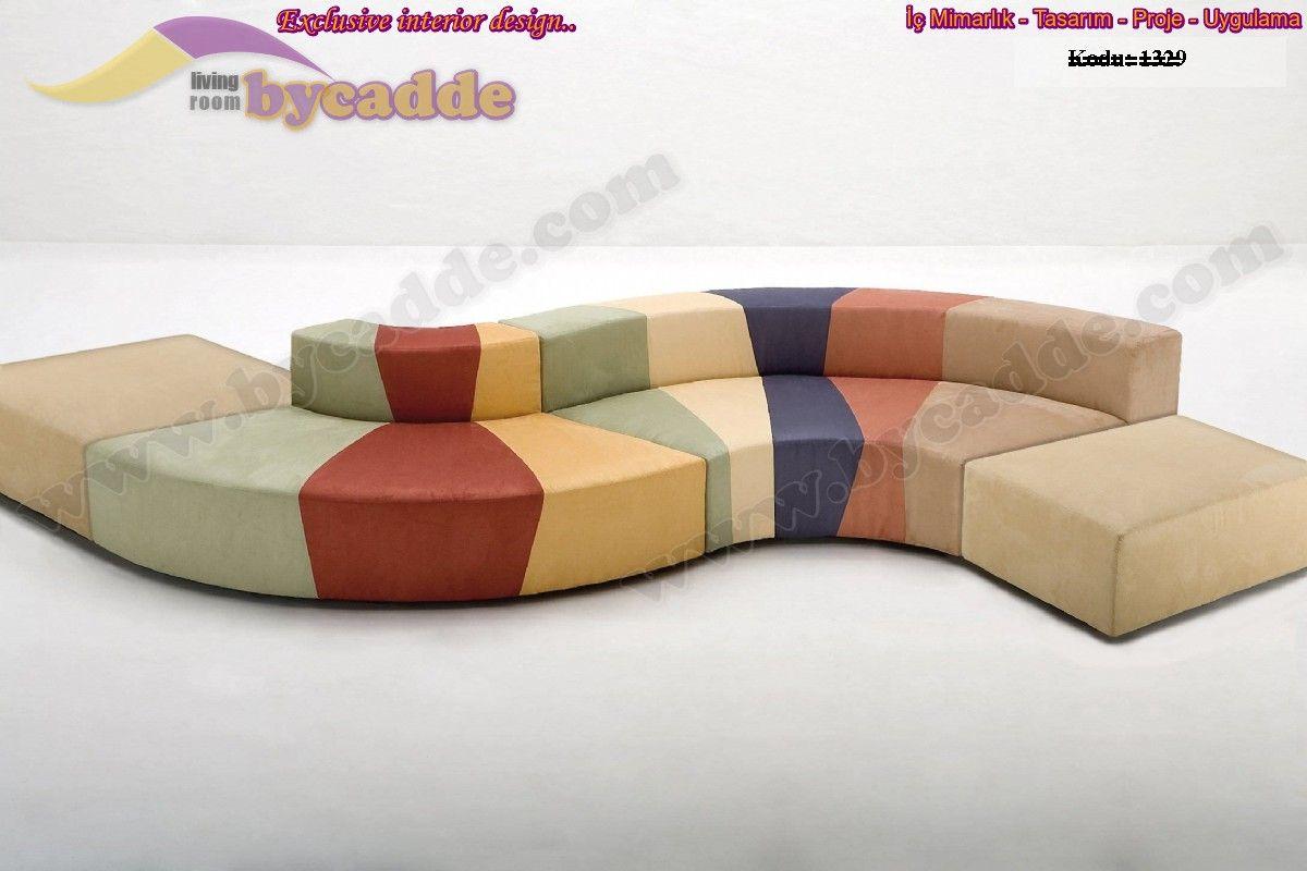 Renkli S Şekilli Özel Dekoratif Koltuk