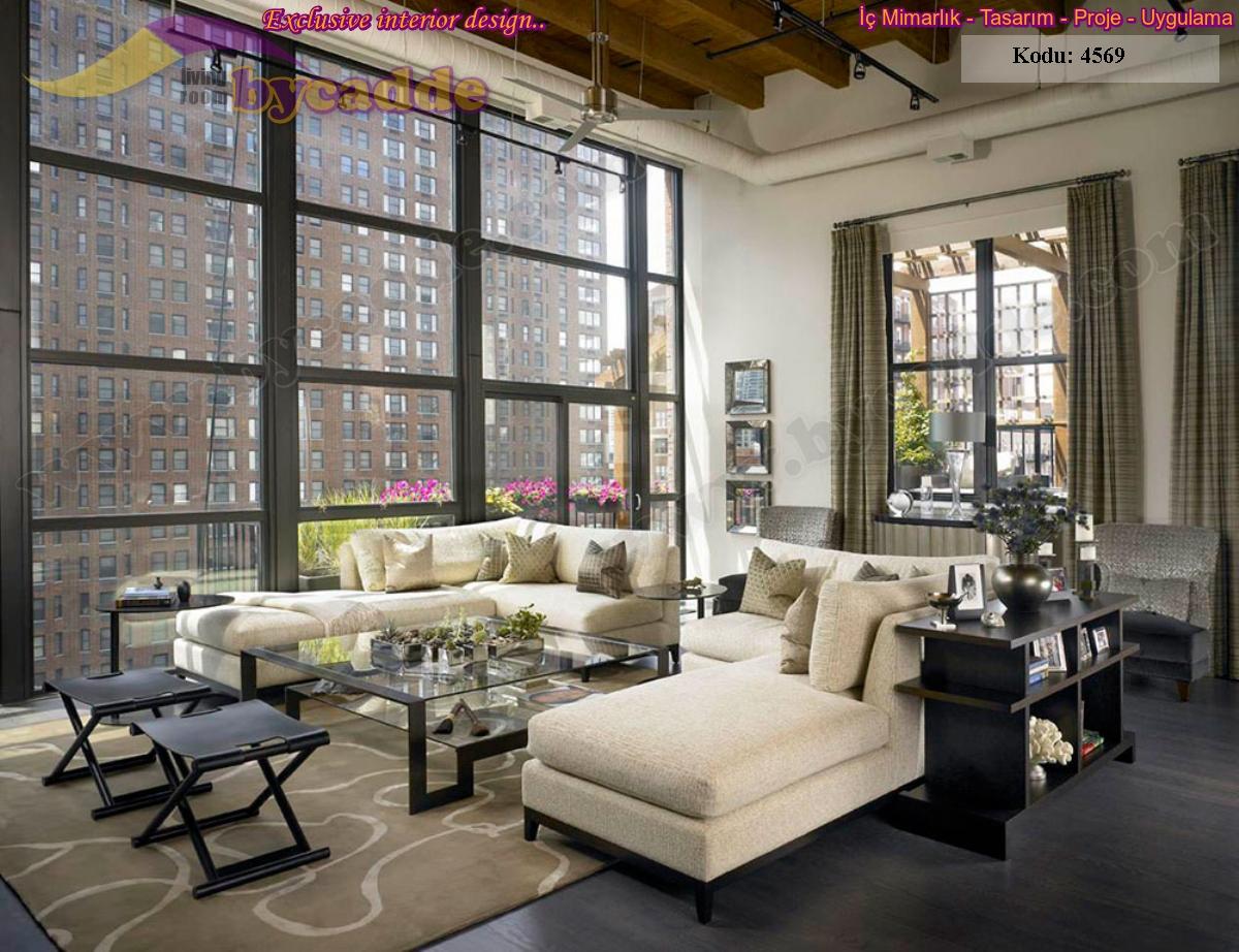 Oturma Odası L Koltuk Takımı Modern Tasarımlar Özel Ölçü Üretim