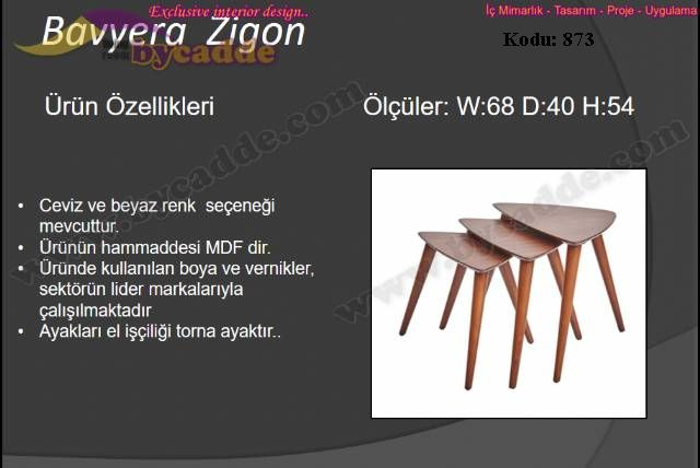 Bavyera Zigon Sehpa