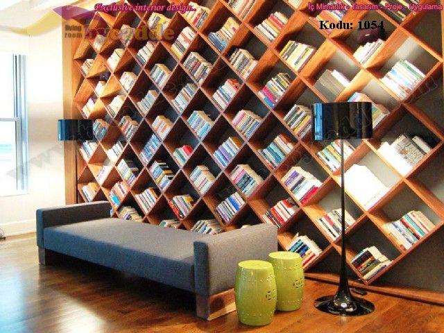 Cross Modern Kitaplık Çerçeve İçi Uygulama