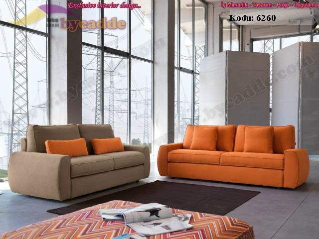 Damla Oturma Odası Modern Koltuk Takımı Zengin Renk Seçenekleri
