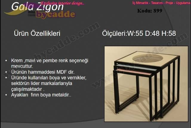 Gala Zigon Sehpa