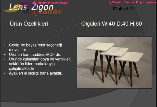 Lens Zigon Sehpa