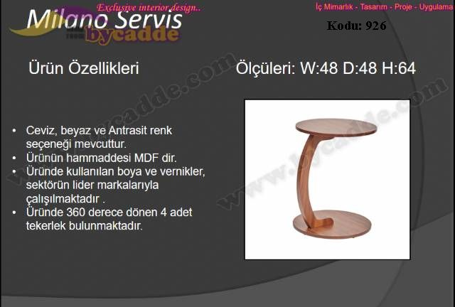 Milano Servis Sehpa
