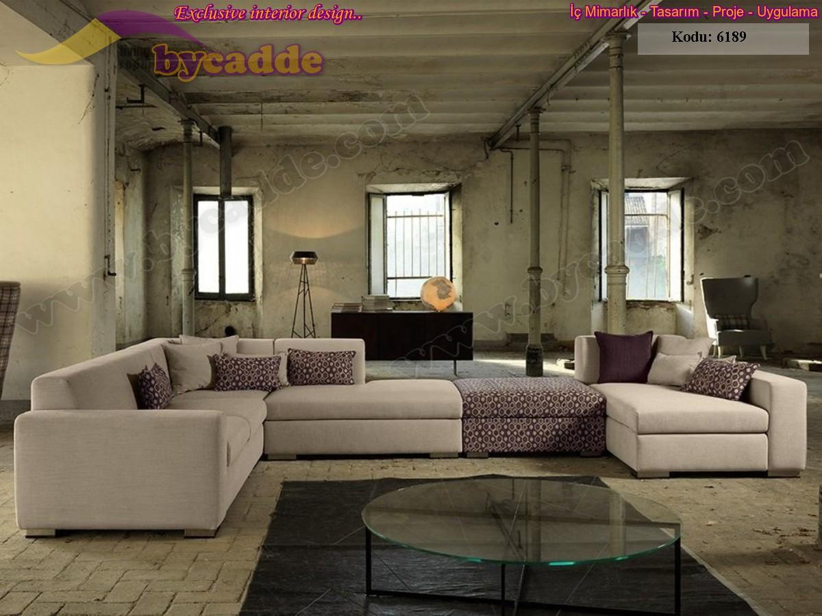 Modüler Salon Köşe Takımı Oturma Gurubu Modern Dekorasyon