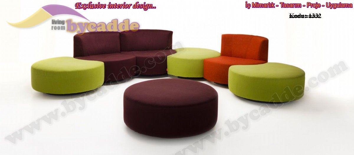 Oval Modüler Dekoratif Koltuk