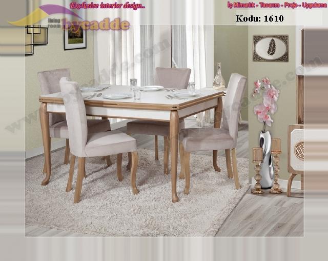 Öykü Açılır Yemek Masası Ve 6 Adet Sandalye
