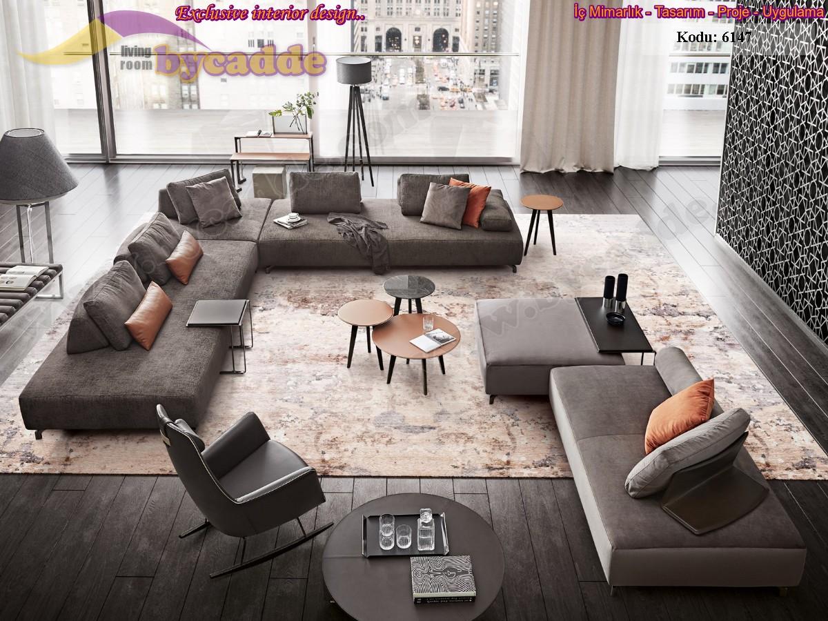 Özel Tasarım Salon Köşe Takımı Modern Lüks Dekoratif