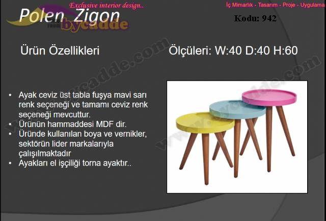 Polen Zigon Sehpa