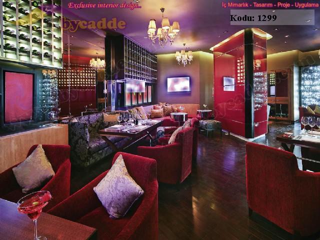 Red Cafe Restoran Sedir Sandalye Kombin