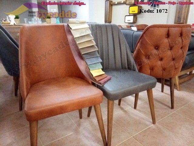 Retro Sandalye Nubuk Modern Torna Ayaklı