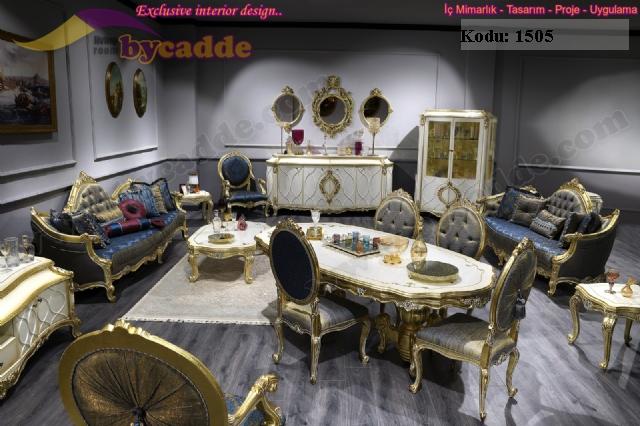 Royal Klasik Salon Takımı Koltuk Yemek Takımı Komple