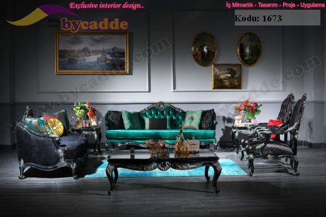 Saray Klasik Koltuk Takımı Art Deco Oymalı Tasarım