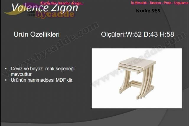 Valence Zigon Sehpa