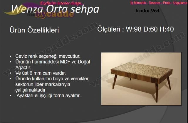 Wenza Orta Sehpa