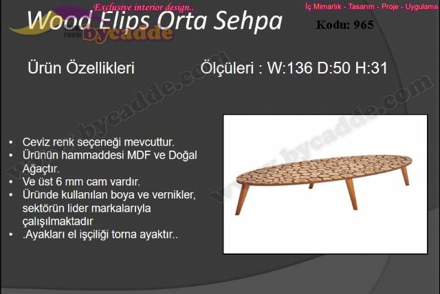 Wood Elips Orta Sehpa