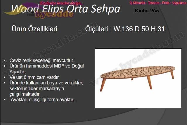 Wood Elips Orta Sehpa
