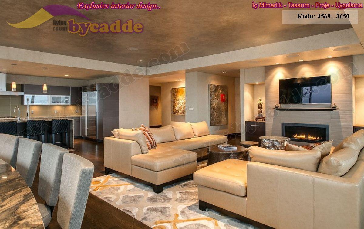 Altın Sarısı Modern L Oturma Odası Köşe Koltuk Takımı