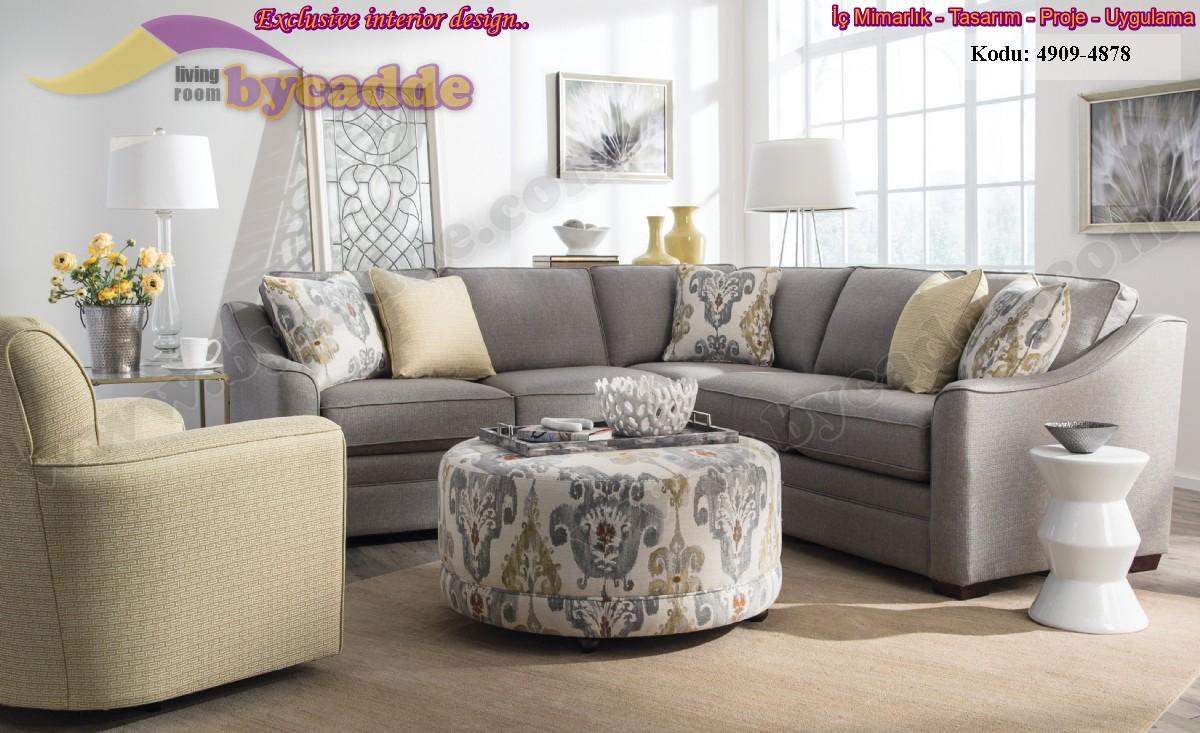 Berjerli Puflu Modern Salon Köşe Takımı