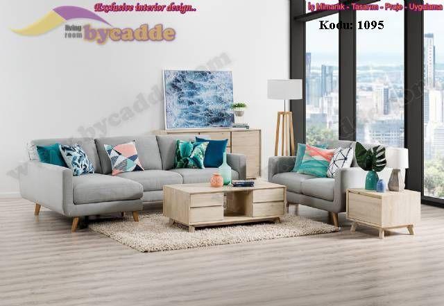 Kraft Salon Kose Takimi Modern Dekoratif Tasarim