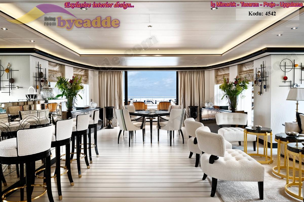 Lüks Restoran Masa Sandalye Berjer Koltuk Dekorasyonu