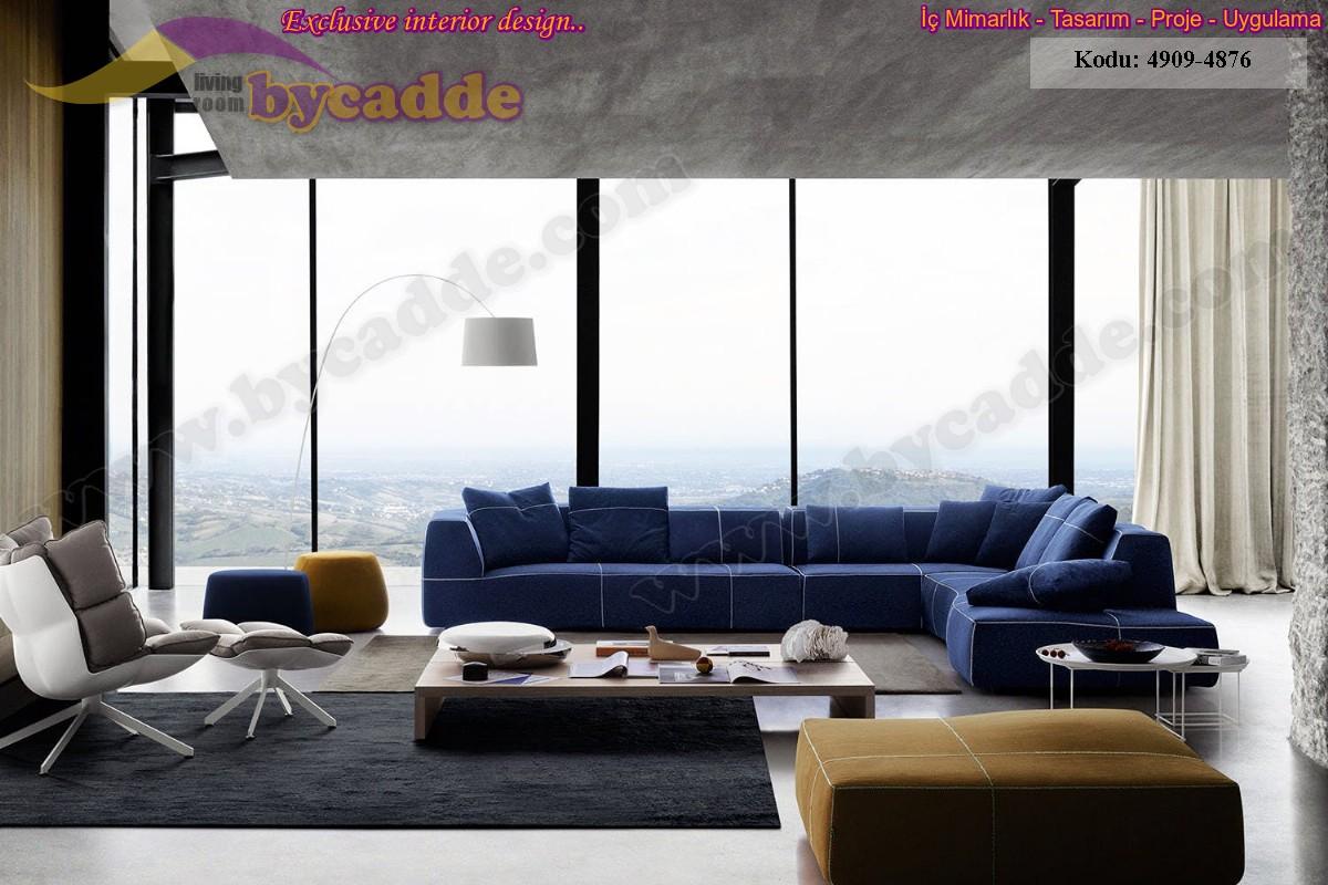 Modern Creative Salon Köşe Takımı Dekorasyonu