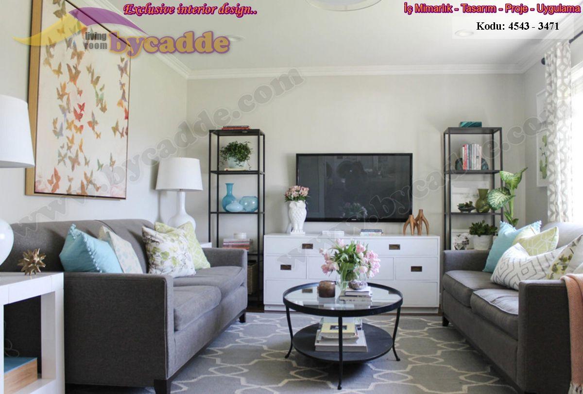 Modern Küçük Oturma Odası Dekorasyonu