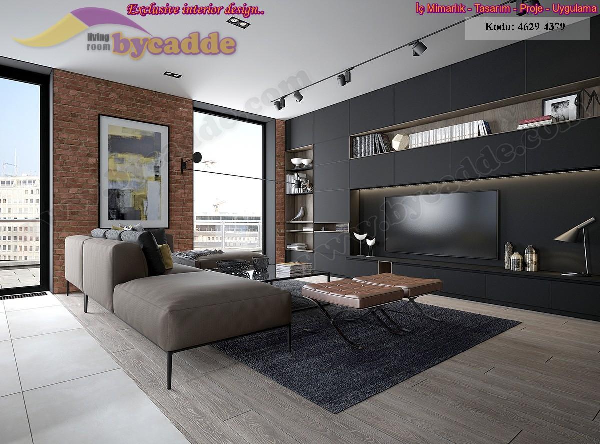 Modern Lüks Oturma Odası Köşe Takımı Duvar Ünitesi