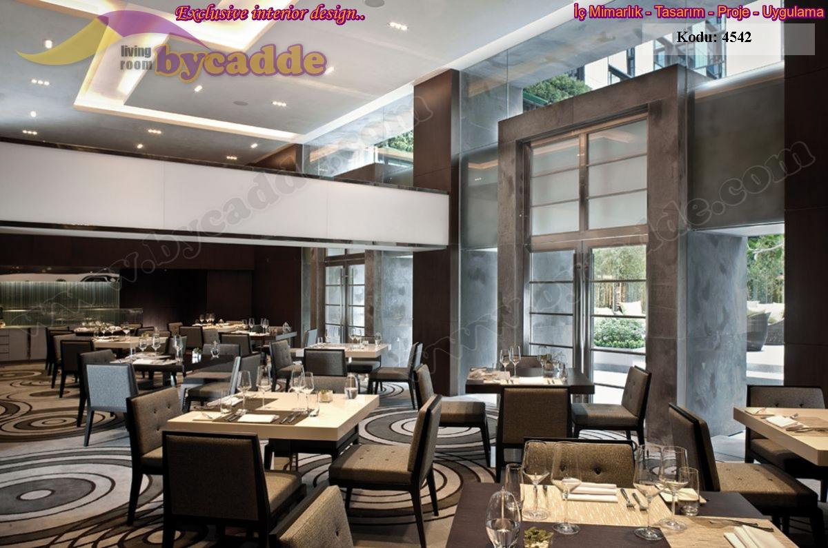 Modern Lüks Restoran Lokanta İç Mekan Masa Sandalye Dekorasyonu