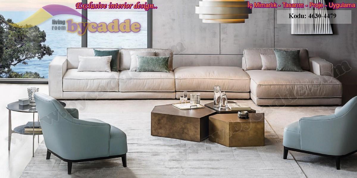 Modern Modüler Lüks Oturma Odası Köşe Koltuk Takımları