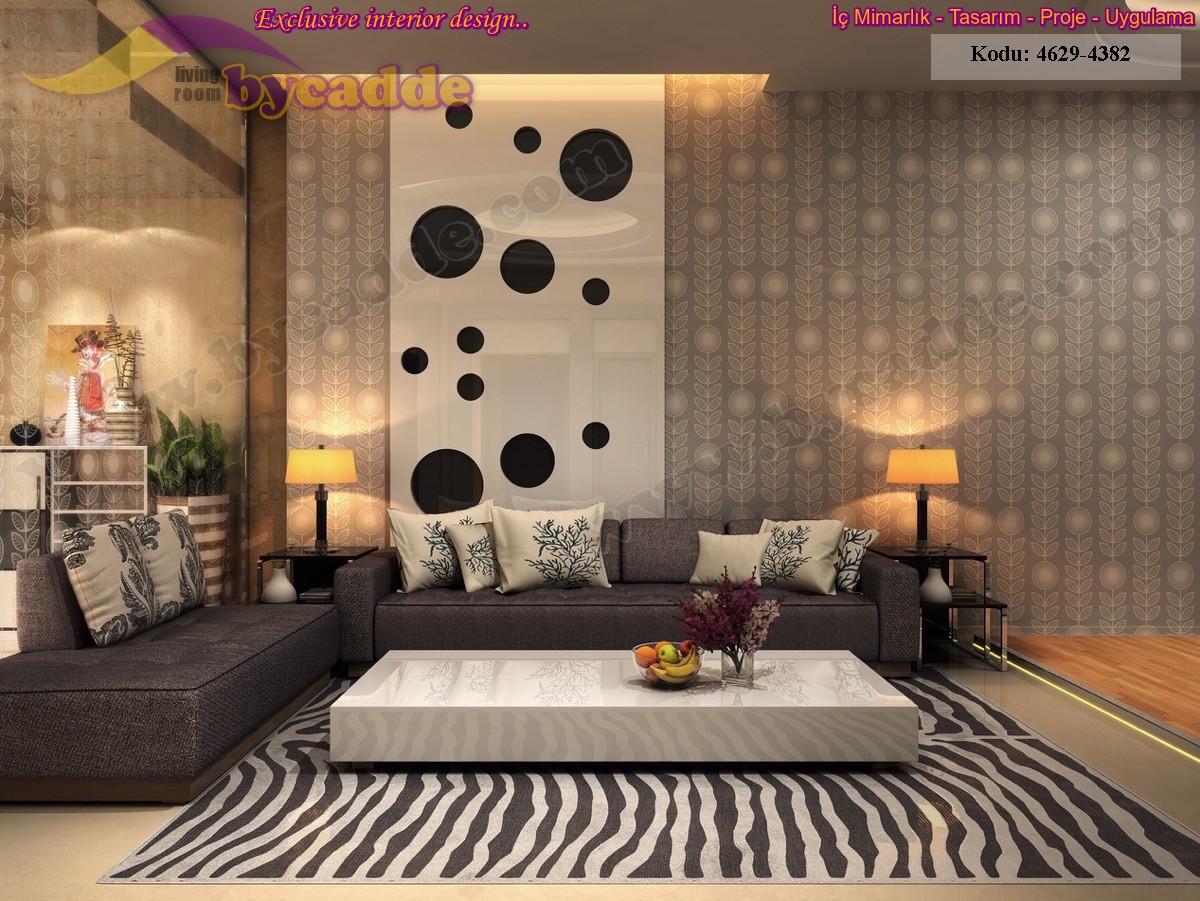 Modern Oturma Odası Koltuk Takımı Dekorasyonu