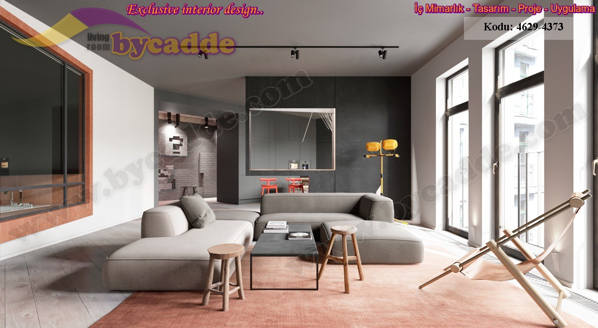 Modern Oturma Odası Koltuk Tasarımı
