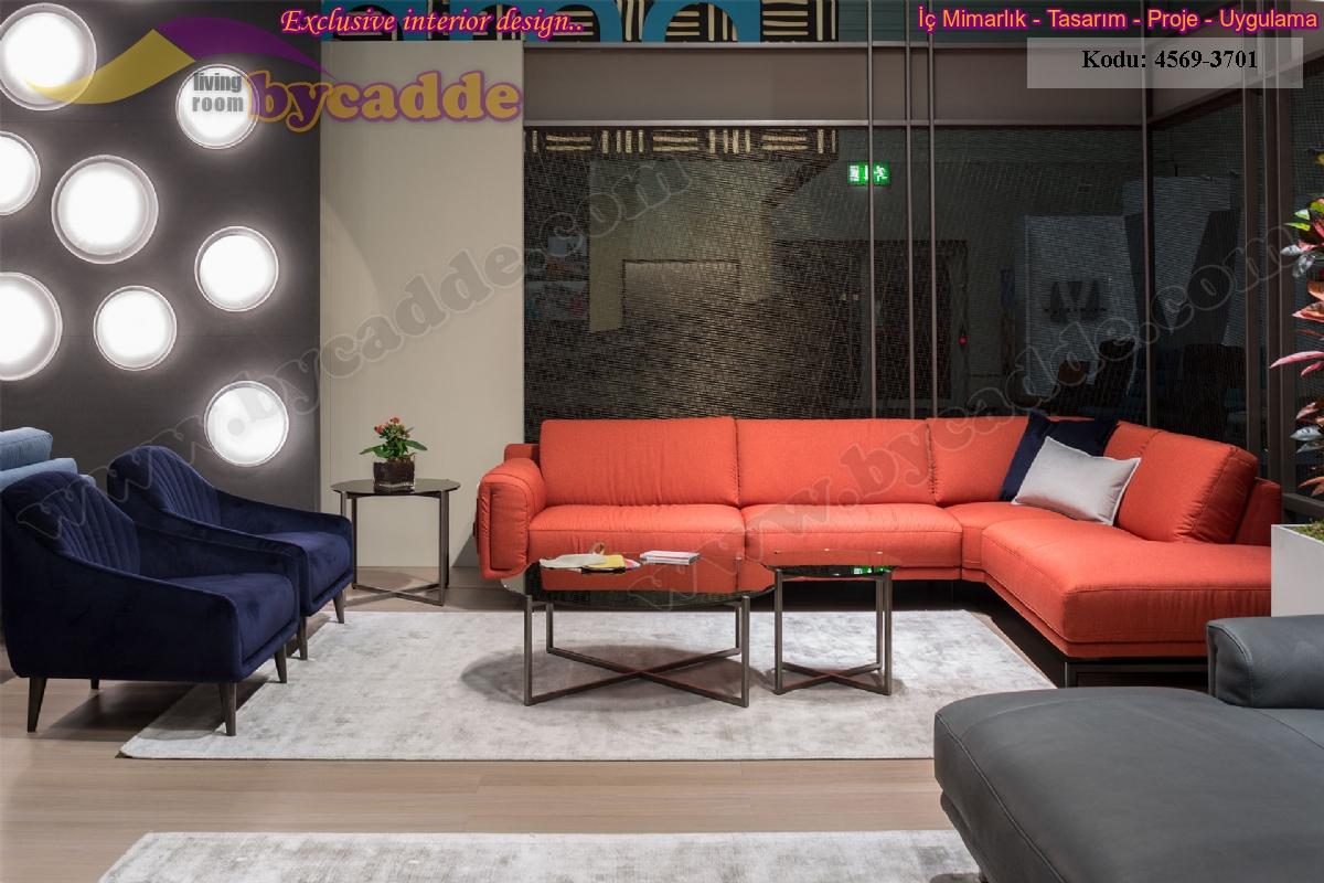 Modern Oturma Odası Köşe Koltuk Takımı