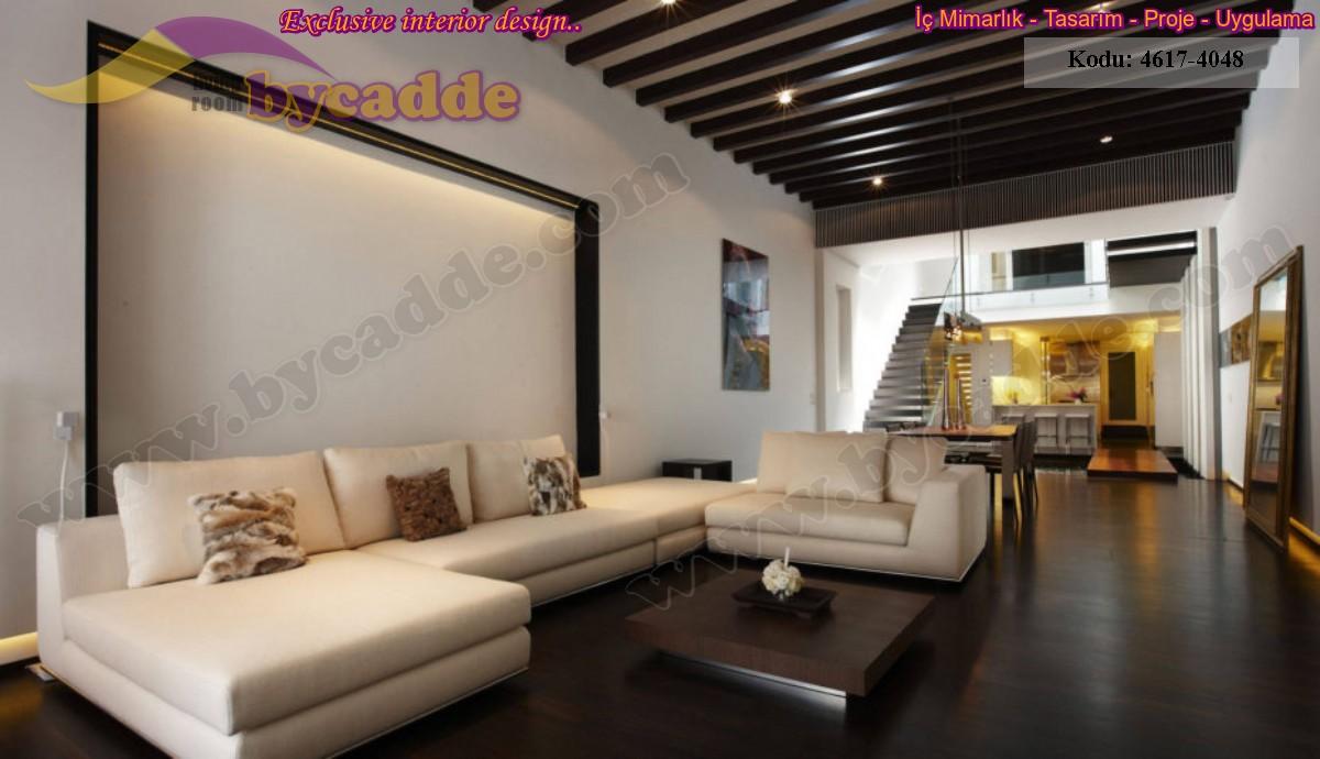 Modern Oturma Odası Köşe Koltuk Tasarımı