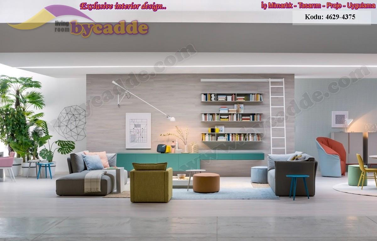 Modern Oturma Odası Salon Dekorasyonu