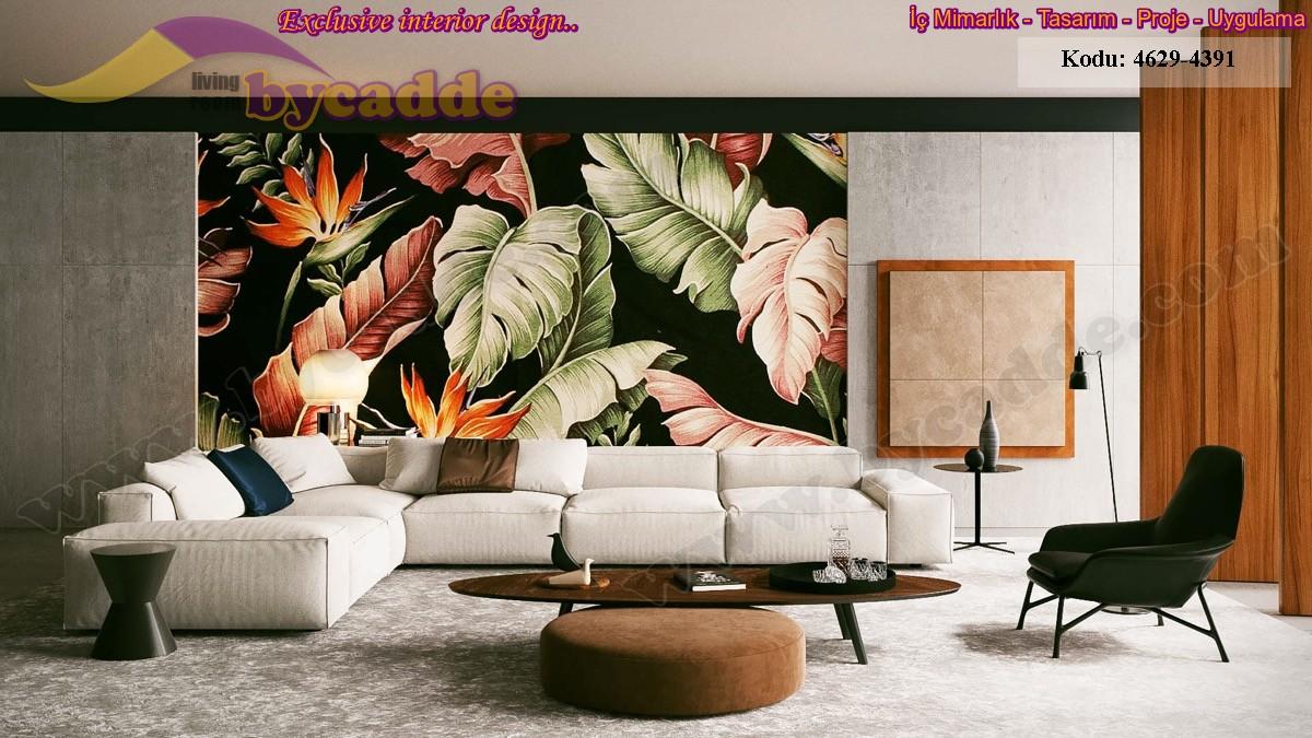 Modern Oturma Odası Tasarımı Köşe Koltuk Modeli
