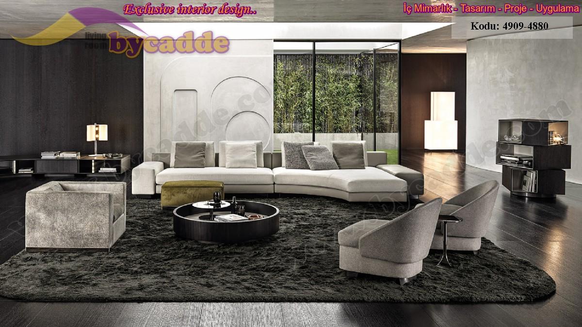 Modern Salon Dekorasyonu Köşe Takımı