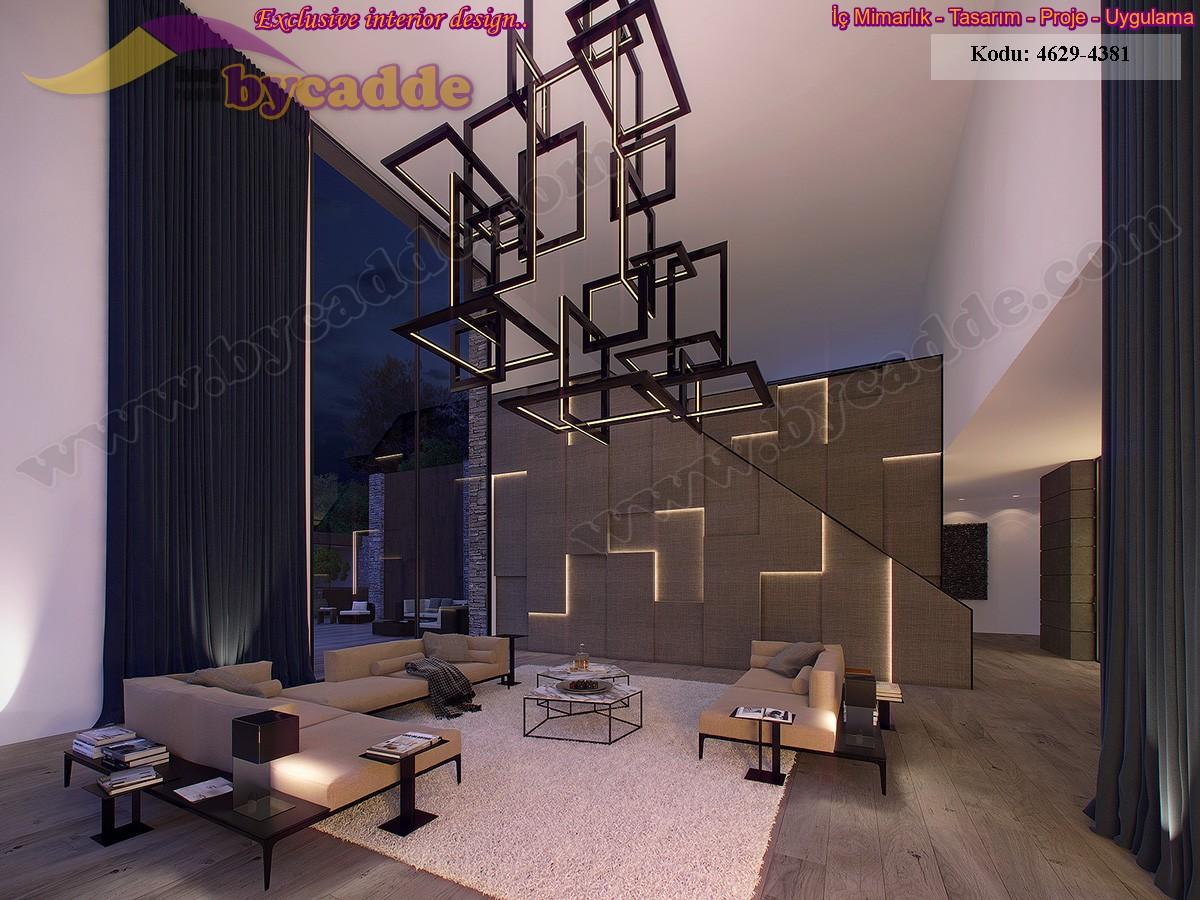 Modern Salon Dekorasyonu Oturma Gurubu Köşe Koltuk