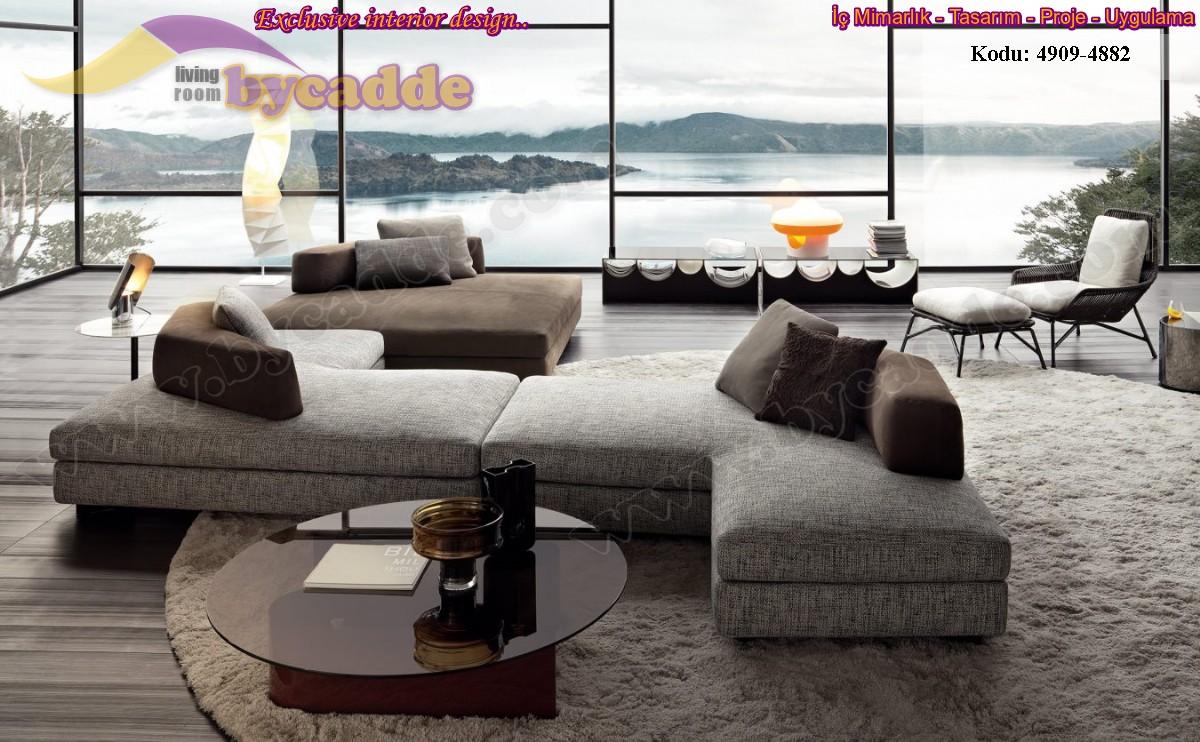 Modern Salon Koltuk Dekorasyonu Köşe Takımı