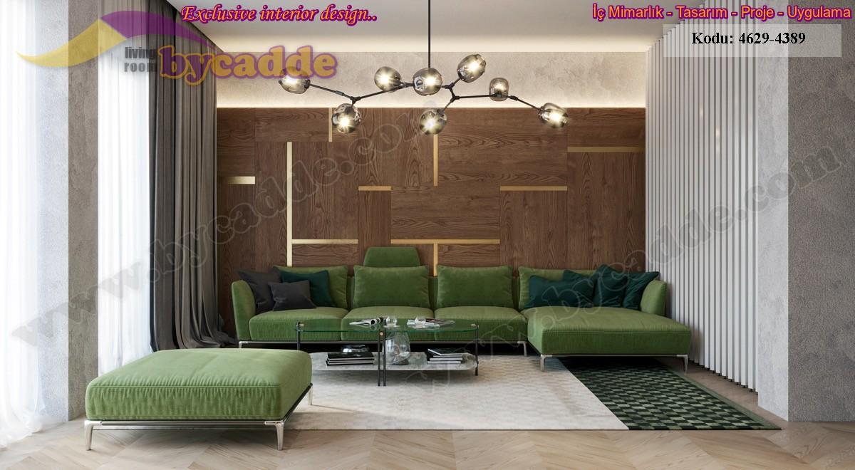 Modern Salon Köşe Koltuk Dekorasyonu