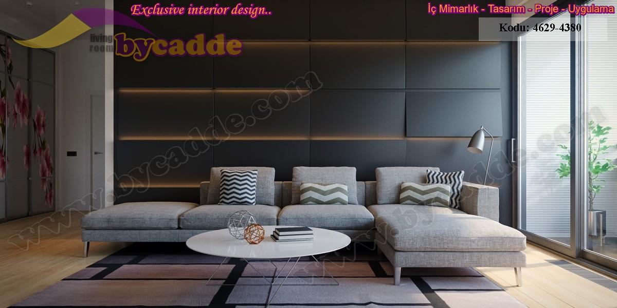 Modern Salon Köşe Koltuk Tasarımı L Köşe