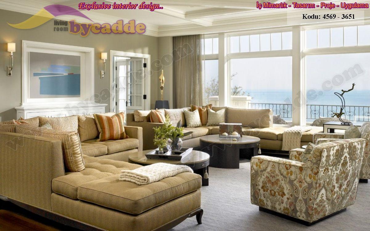 Oturma Odası L Koltuk Dekorasyonu Büyük Ölçü Oturma Odası Tasarımı