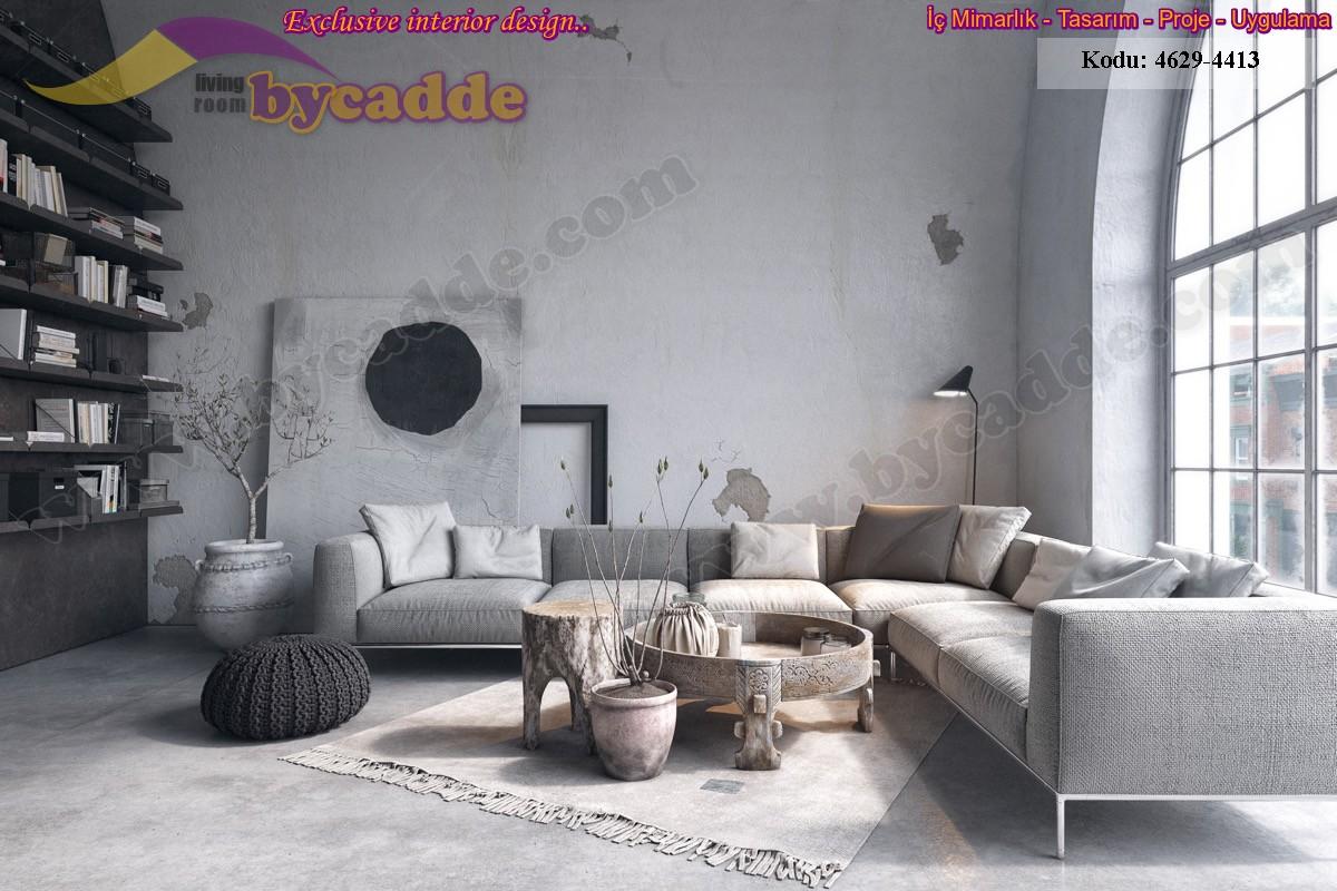Oturma Odası Modern L Köşe Koltuk Tasarımı