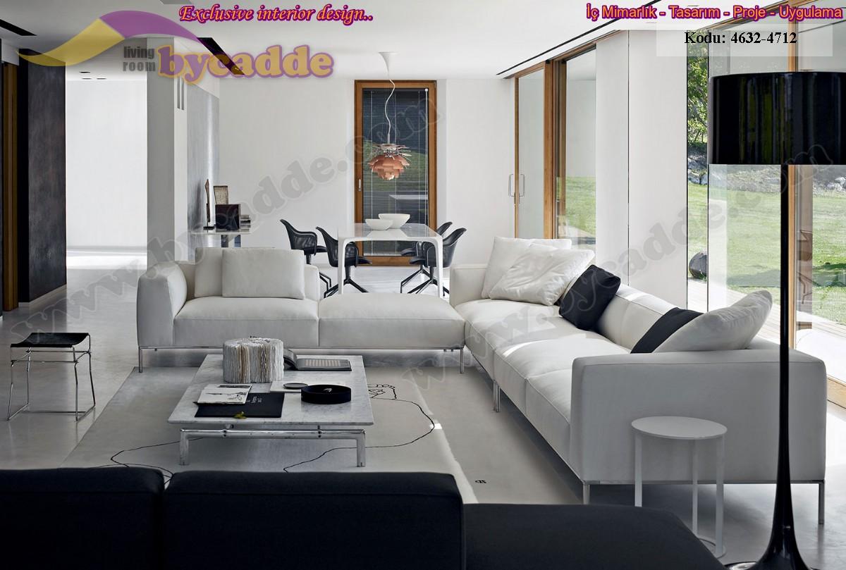 Özel Tasarım Modern Salon Oturma Odası Dekorasyonu Modüler Köşe Koltuk
