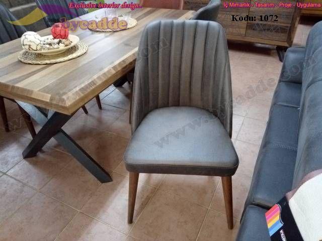 Retro Sandalye Nubuk Andezit