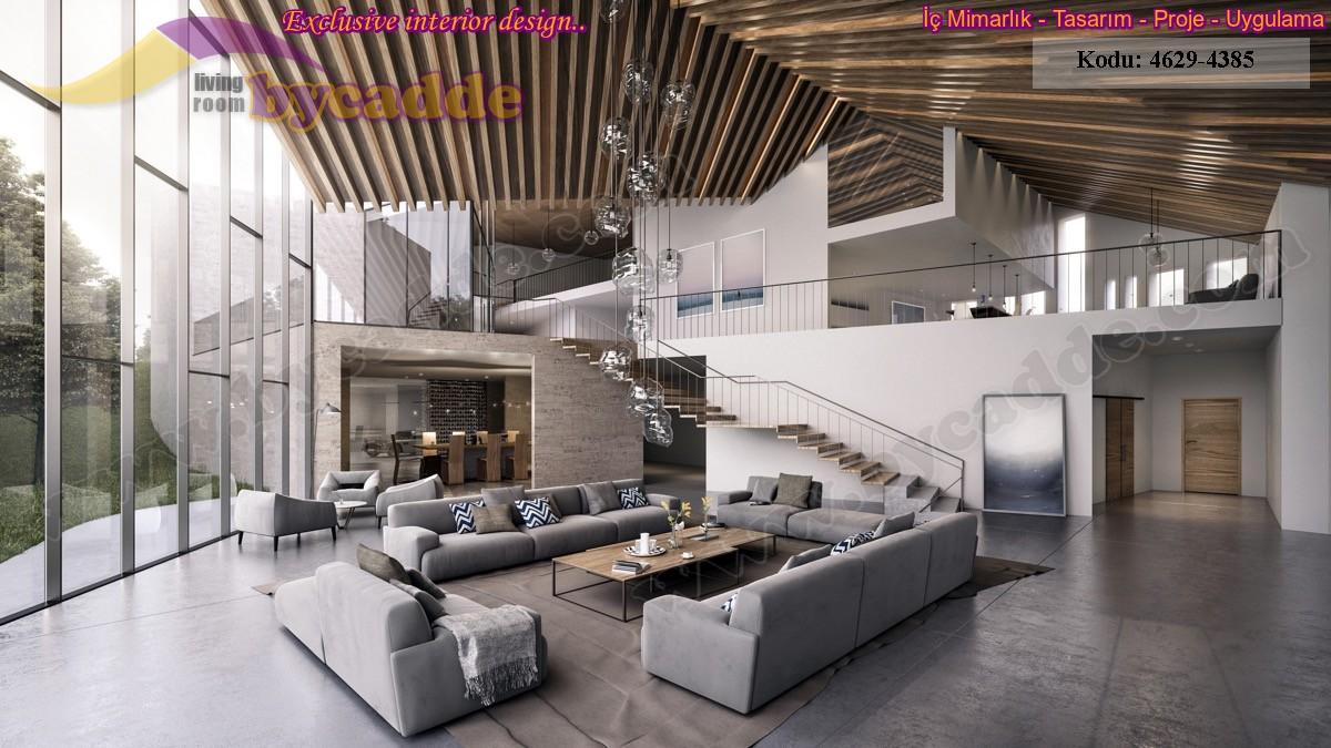Salon Dekorasyonu Modern Oturma Gurubu Koltuk Takımı