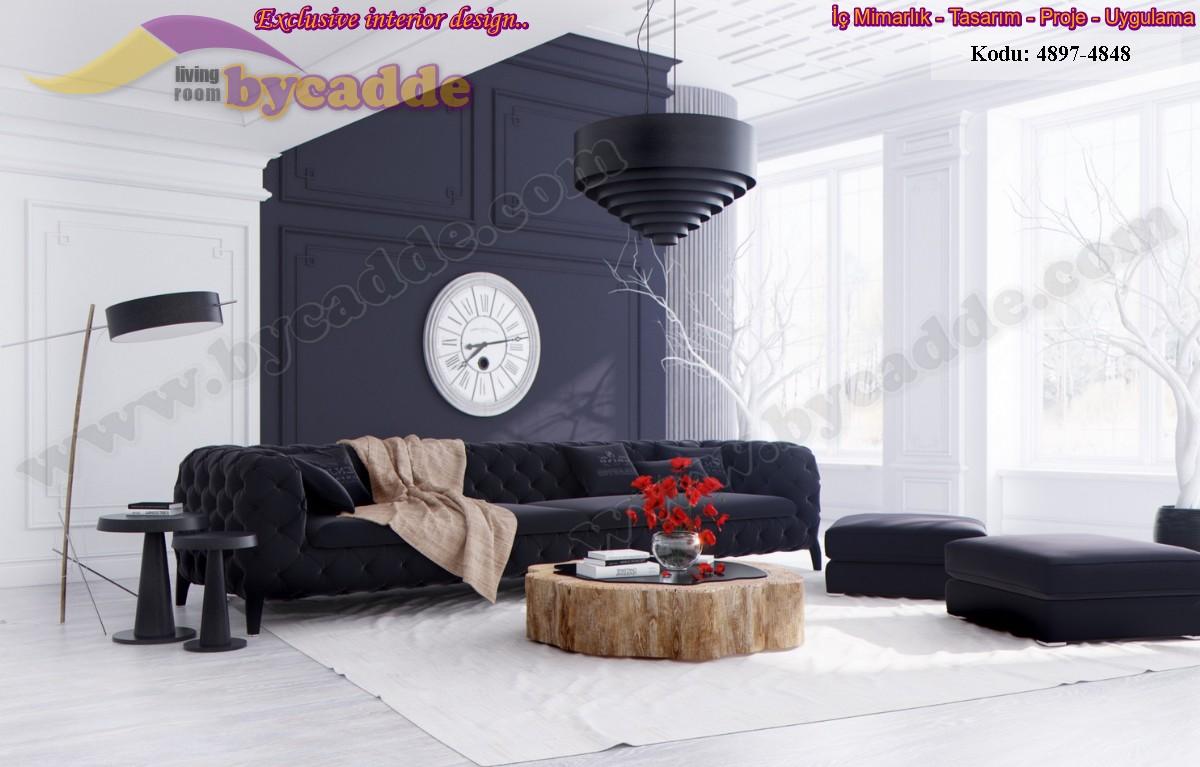 Siyah İnci Modern Chester Koltuk Kadife Ve Siyah Harika İkili